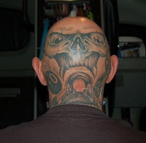 Tattoo Kepala ini biasanya dibuat di bagian kepala yang dicukur gundul ...
