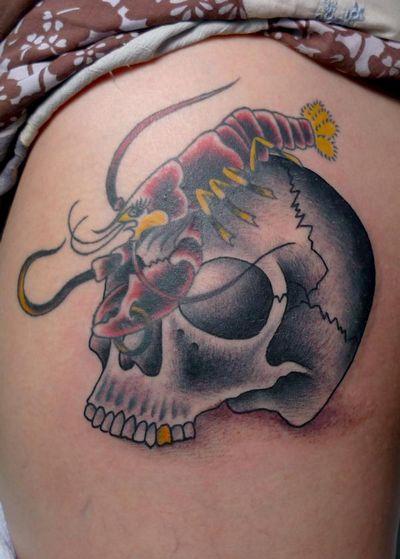 Skull and Bird Tattoo